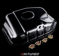 K-Tuned - Steel Oil Pan Kit (Includes Hardware and magnetic drain plug)