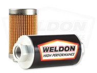 Weldon Racing - -12 ORB 10 Micron Stainless Filter Assembly