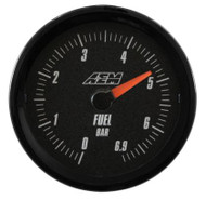 AEM - Analog 6.9Bar Oil/Fuel Pressure Gauge (Metric)