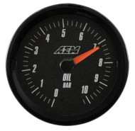 AEM - AEM Analog 10.2Bar Oil Pressure Gauge (Metric)