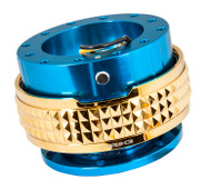 NRG - Quick Release PYRAMID GEN 2.1 (Blue Body/Chrome Gold Ring)