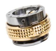 NRG - Quick Release PYRAMID GEN 2.1 (Gun Metal Body/Chrome Gold Ring)