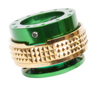 NRG - Quick Release PYRAMID GEN 2.1 (Green Body/Chrome Gold Ring)