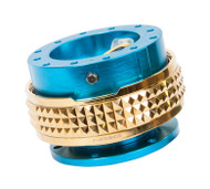 NRG - Quick Release PYRAMID GEN 2.1 (New Blue Body/Chrome Gold Ring)