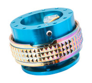 NRG - Quick Release PYRAMID GEN 2.1 (New Blue Body/Neo Chrome Gold Ring)