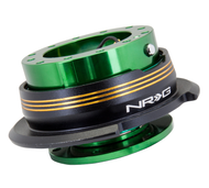 NRG - Quick Release GEN 2.9 (Green Body/Chrome Gold Striped Ring)