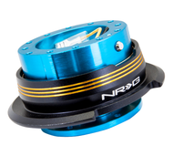 NRG - Quick Release GEN 2.9 (New Blue Body/Chrome Gold Striped Ring)