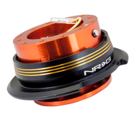 NRG - Quick Release GEN 2.9 (Orange Body/Chrome Gold Striped Ring)