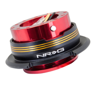 NRG - Quick Release GEN 2.9 (Red Body/Chrome Gold Striped Ring)