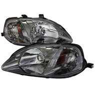 99-00 HONDA CIVIC GUN METAL HEADLIGHTS