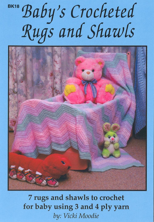 Image of Craft Moods book BK18 Baby's Crocheted Rugs and Shawls by Vicki Moodie.