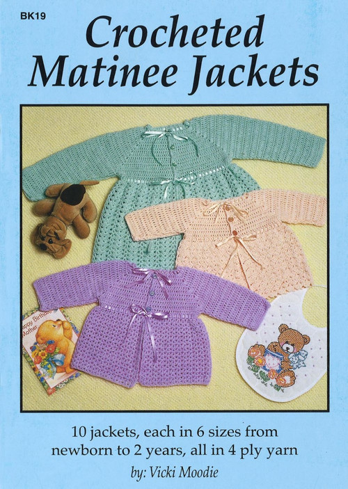 Image of Craft Moods book BK19 Crocheted Matinee Jackets by Vicki Moodie.