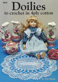 Image for Craft Moods book BK25 Doilies to crochet in 4ply cotton by Vicki Moodie.
