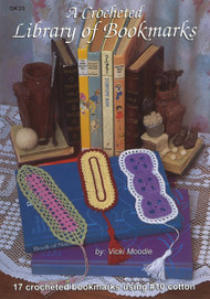 Image of Craft Moods book BK28 A Crocheted Library of Bookmarks by Vicki Moodie.
