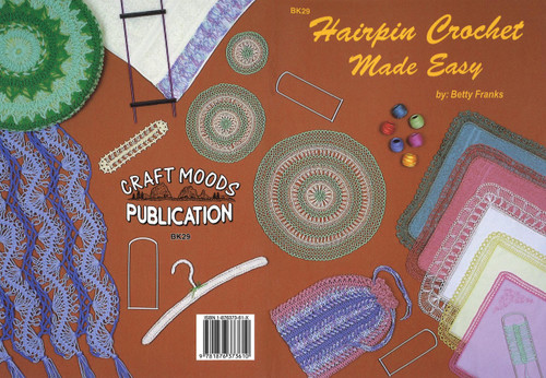 Image of Craft Moods book BK29 Hairpin Crochet Made Easy by Betty Franks.