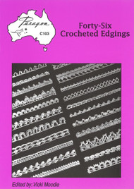 Image of Paragon book PARC103, Forty-Six Crocheted Edgings, edited by Vicki Moodie.