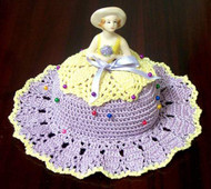 CMPATC046 - Pin Cushion Hat with Porcelain Doll