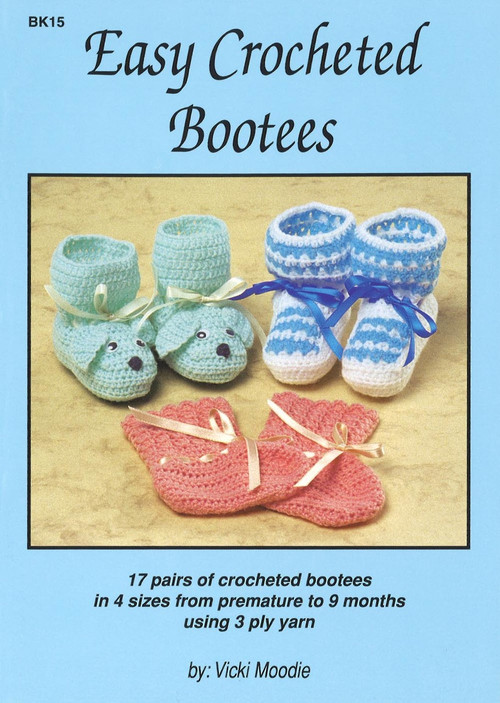 Image of Craft Moods book BK15 Easy Crocheted Bootees by Vicki Moodie.