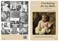 Cover picture with project images for Paragon crochet book PARC156R Crocheting for my Baby.