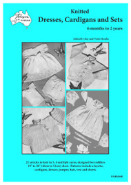 Front cover image of Paragon baby knitting book PARK06R Knitted Dresses, Cardigans and Sets