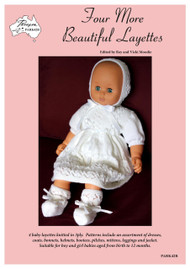 Front cover image of Paragon Knitting Book PARK42R Four More Beautiful Layettes.