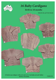 Front cover image of Paragon baby knitting book PARK216R 16 Baby Cardigans.