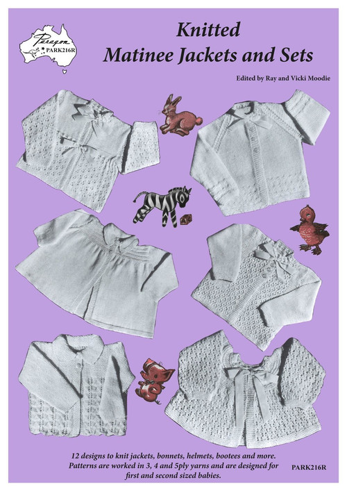Front cover image of Paragon baby knitting book PARK216R, Knitted Matinee Jackets and Sets.
