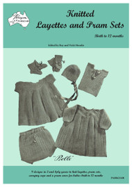 Front cover image of Paragon Heritage series Baby Knitting book PARK214R - Knitted Layettes and Pram Sets.