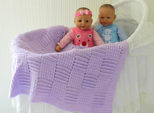 Craft Moods pattern CMPATC097 Reversible Basketweave Baby Rug.