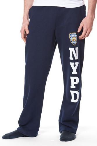 Adult NYPD Navy Fleece Pant with Leg Print