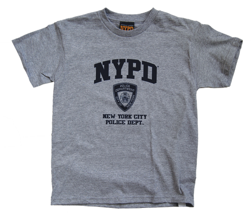 NYPD Kids Grey Tee with Navy Print