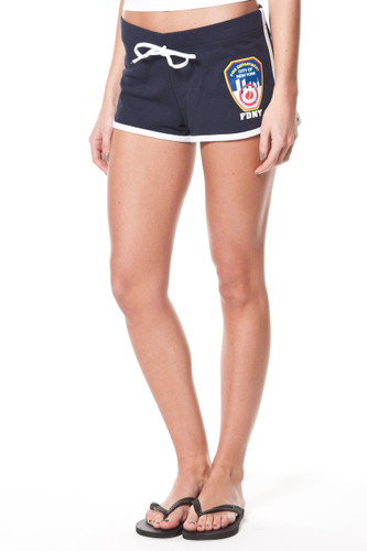 FDNY Ladies Navy French Terry Short with Emblem front and Keep Back Print