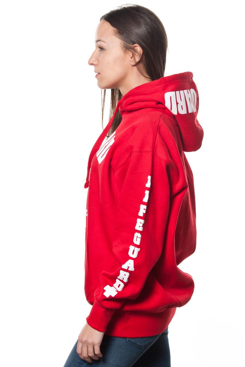 Red lifeguard hoodie
