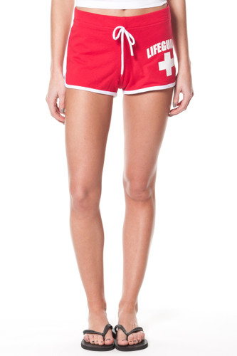 Ladies LIFEGUARD Licensed Red Shorts