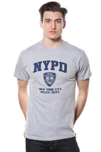 Adult Oxford NYPD Navy Print Tee