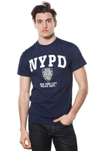 NYPD Adult Navy Tee with White Print