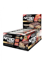 Muscletech Nitrotech Crunch Protein Bar - Chocolate Chip Cookie Dough (Box Of 12 Bars)