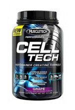Muscletech Celltech Performance Creatine Powder -  Grape, 3 Lbs