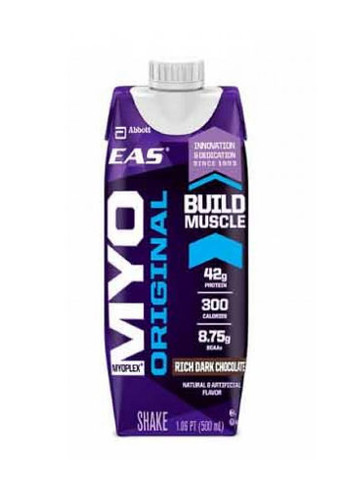 EAS Nutrition Myoplex Original Ready To Drink - RTD- Protein Drink - Rich Dark Chocolate, (12 Packs Of 550ml Each)