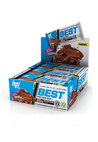 BPI Sports Best Protein Bars - Chocolate Peanut Butter (12 Bars In A Pack)