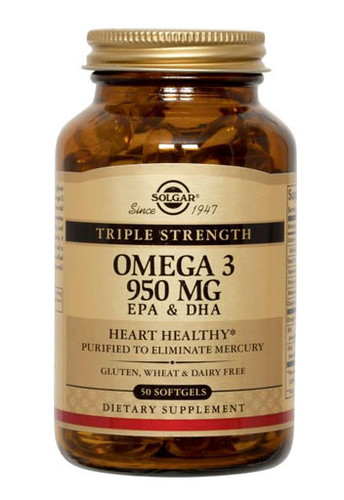 Solgar	Omega - 3 - 950Mg Non Flavoured 50 Soft Gels