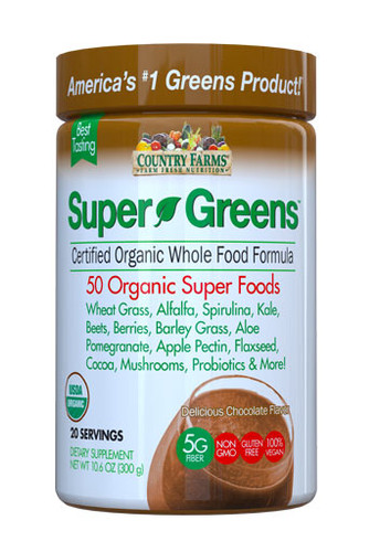 Country Farms Super Green Chocolate - 20 Servings