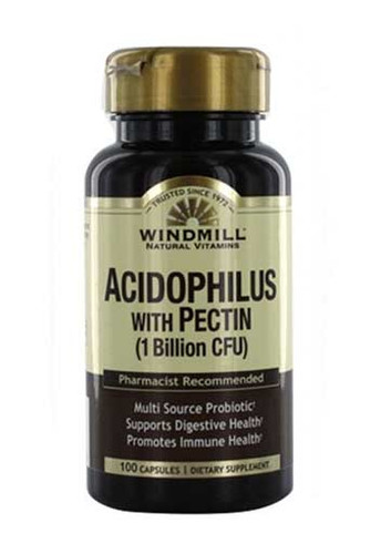 Windmill Acidophilus Probiotic Blend with Pectin 100 Capsules