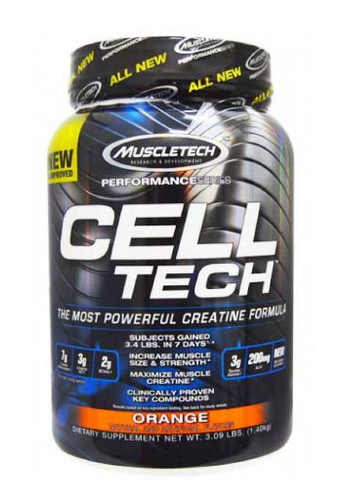 Muscletech Celltech Performance Creatine Powder - Orange, 3 Lbs