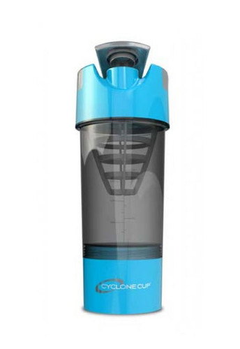 Cyclone Cup Protein Shaker Bottle With Compartment - Aqua Smoked, 20 Oz
