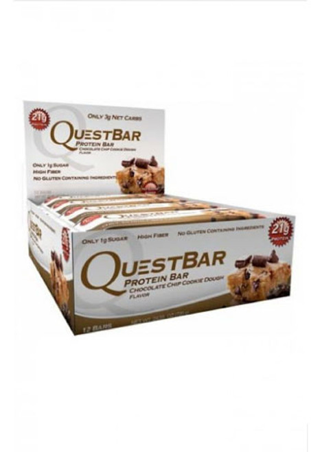 Quest Nutrition Quest Bar Protein Bar - Chocolate Chip Cookie Dough (Pack Of 12 Bars)