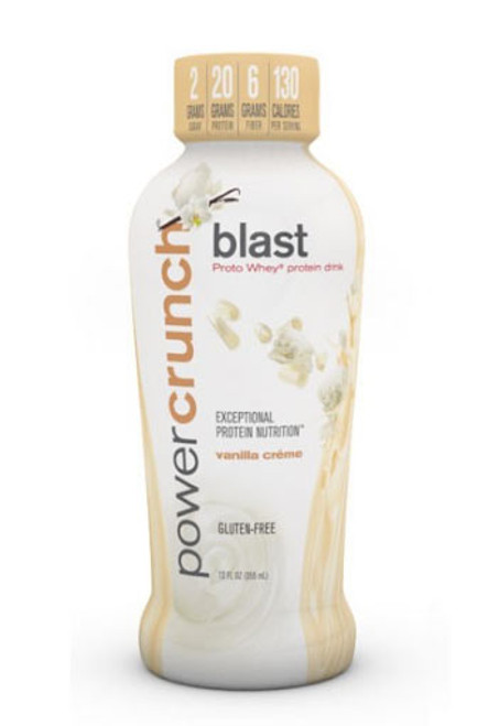 Power Crunch Blast RTD Protein Drink - Vanilla Cream (Pack Of 12 Bottles)