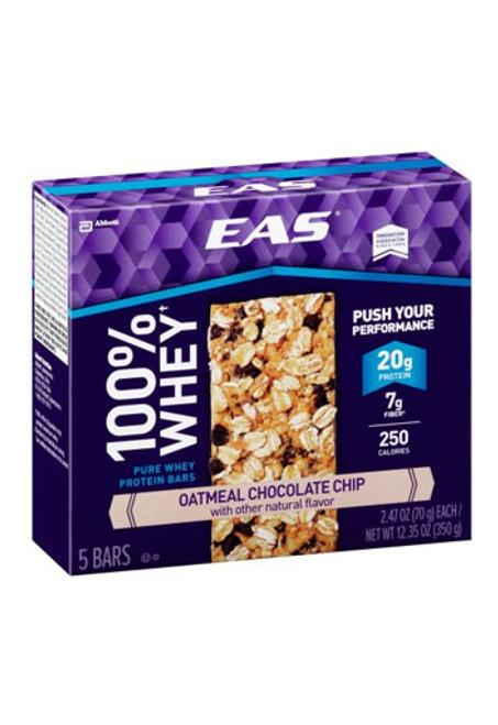 EAS 100% Whey Protein Bar - Oatmeal Chocolate chip (5 bars)