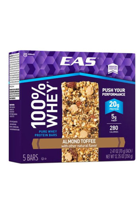 EAS 100% Whey Protein Bar - Almond Toffee (5 bars)