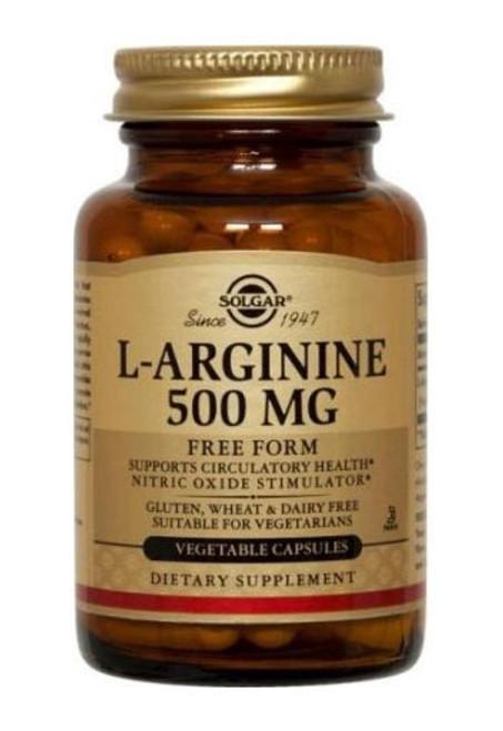 SolgarL Arginine 500Mg Non Flavoured 100 Caps